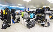 Visite virtuelle magasin de plongée geneve